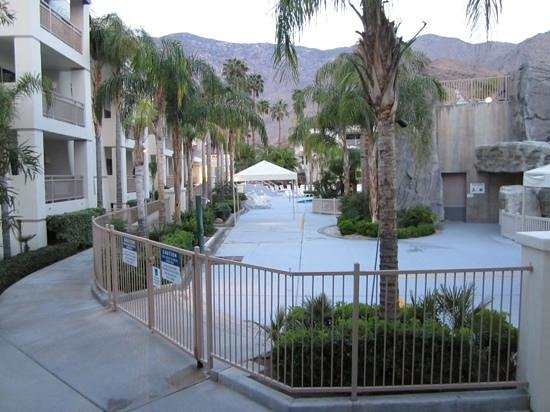 Palm Canyon Resort & Spa: view from our patio