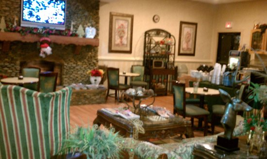 Baymont Inn & Suites Helen: Beautiful and Cozy Lobby!