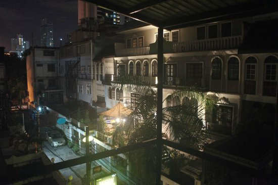 Seven Hotel: Night View From Balcony