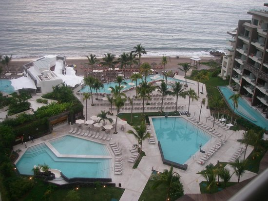 Now Amber Puerto Vallarta: View to all of the pools