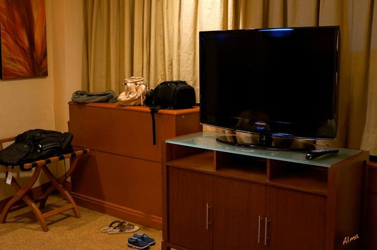Eastwood Richmonde Hotel: bedroom tv