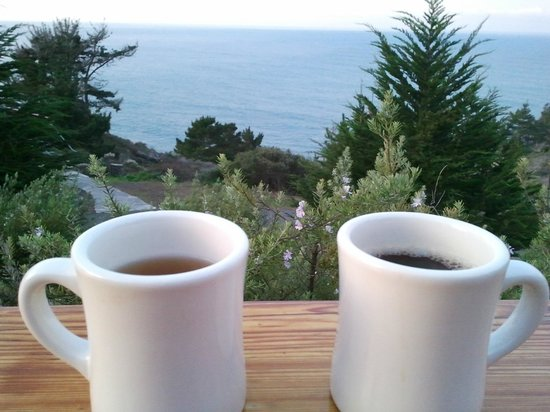 Treebones Resort: Not a bad way to enjoy your morning coffee