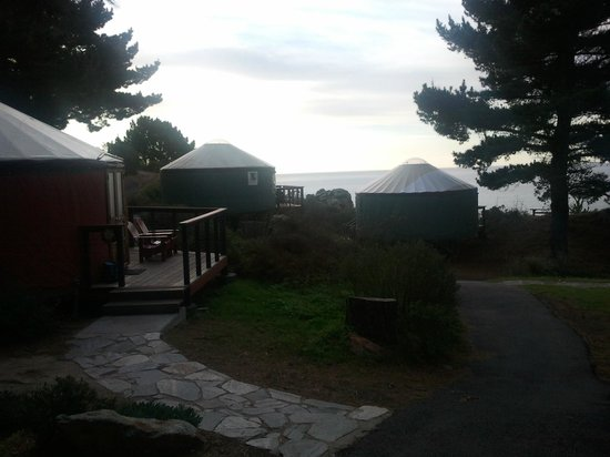 Treebones Resort: Some of the other yurts in the resort