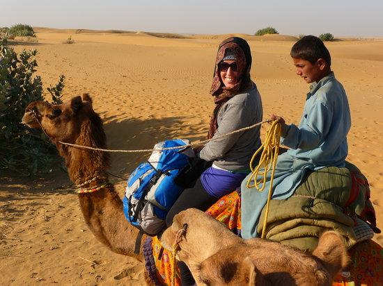 Residency Centre Point Guest House and Desert Safari: Enjoying my camel safari!