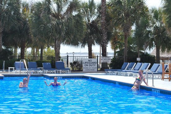 Charleston Harbor Resort & Marina: part of pool
