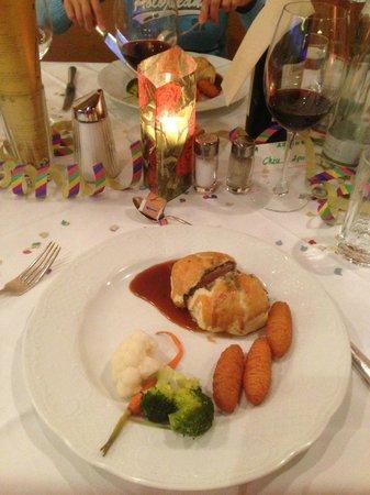 Hotel Alpenrose: 31-Dec-2012 Dinner - main dish (pork fillet)