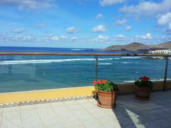 Reina Isabel Hotel: Toller Meerblick von der Dachterasse