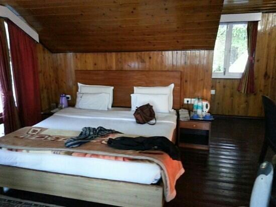 Central Nirvana Resort, Darjeeling: club attic room. .. complete wooden room
