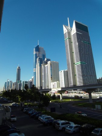 The Apartments Dubai World Trade Centre : Sheikh Zayed road, view from room