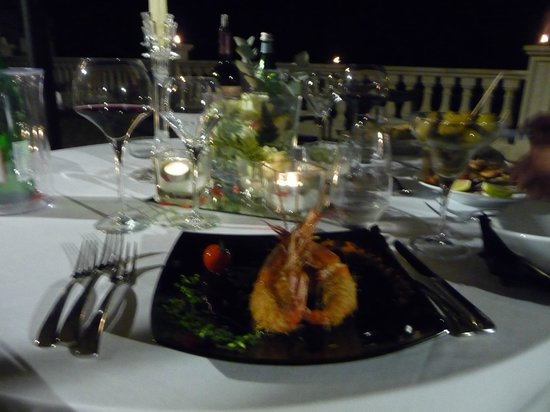 Grand Hotel Minareto : Beautifully presented and delicious food