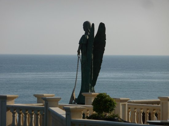 Grand Hotel Minareto : The angel on the top sunbathing terrace