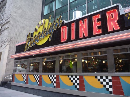 brooklyn diner exterior picture of brooklyn diner new york city tripadvisor. Black Bedroom Furniture Sets. Home Design Ideas
