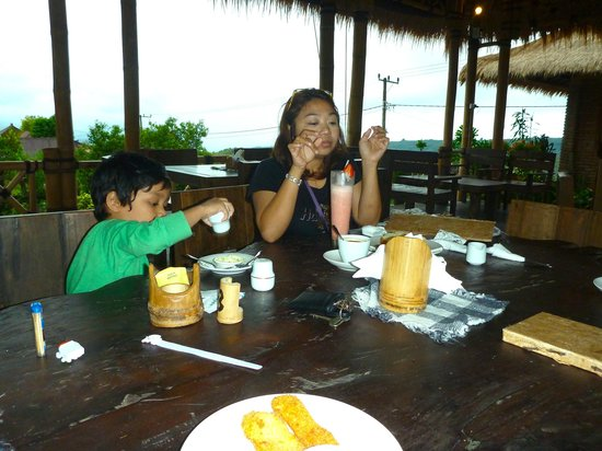 Don Biyu: Munching happily with my son