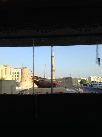 Arabian Courtyard Hotel & Spa: vista dalla sala colazione