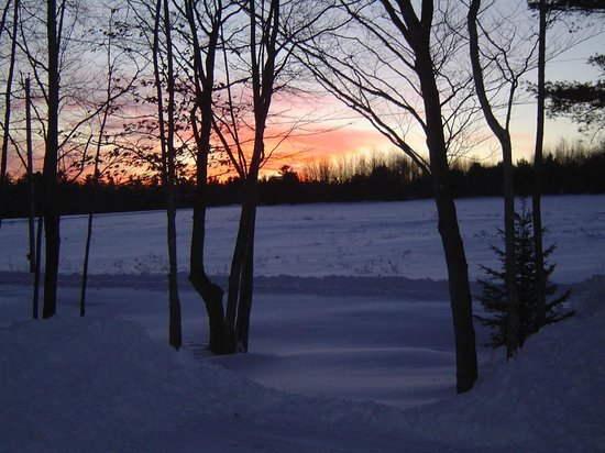 Blueberry Fields Bed & Breakfast: Sunset in winter...from front porch