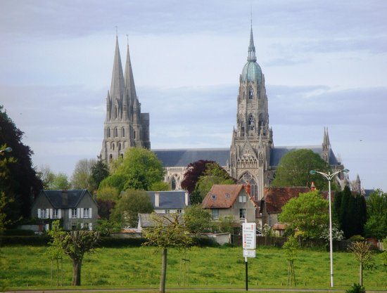Campanile De Bayeux: VIEW FROM OUR ROOM (PHOTO ZOOMED IN)