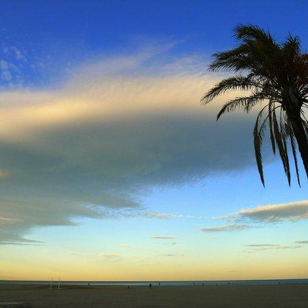 Caro Hotel: la plage de Valencia...