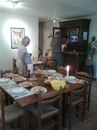 Hotel Axat: the diningroom