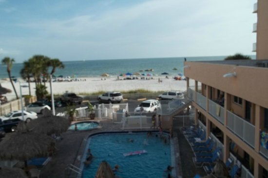 Commodore Beach Club View From Upper Level Looking Out At Heh Gulf Of Mexico