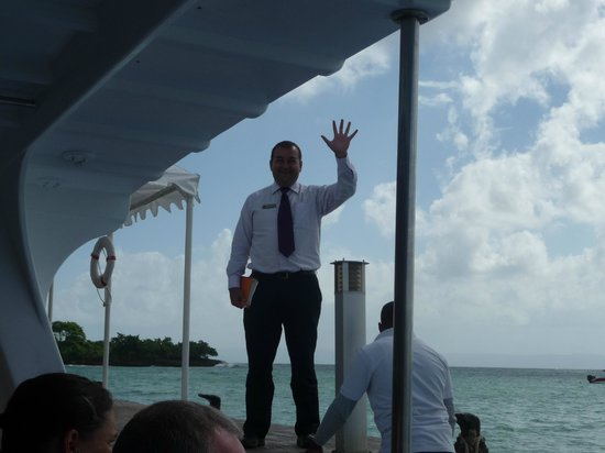 Luxury Bahia Principe Cayo Levantado Don Pablo Collection: Alexis waving goodbye:(