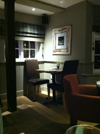 The Percy Arms: dining table