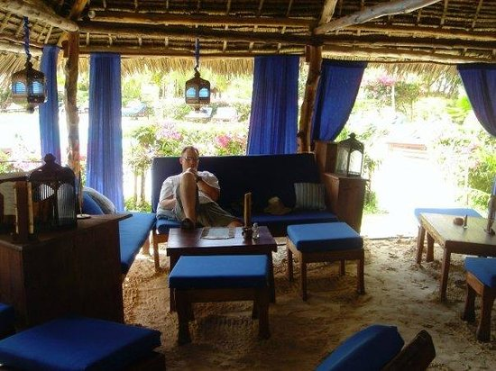 Breezes Beach Club & Spa, Zanzibar: enjoying a cuban and a drink in one of the bars