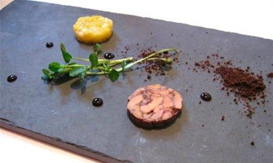 La Locanda: pressed pineapple and fois gras amuse-bouche