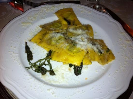 Hotel Cristallo : ravioli at dinner