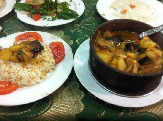 Abou Alhassan Elshazly: moussaka and rice tagine