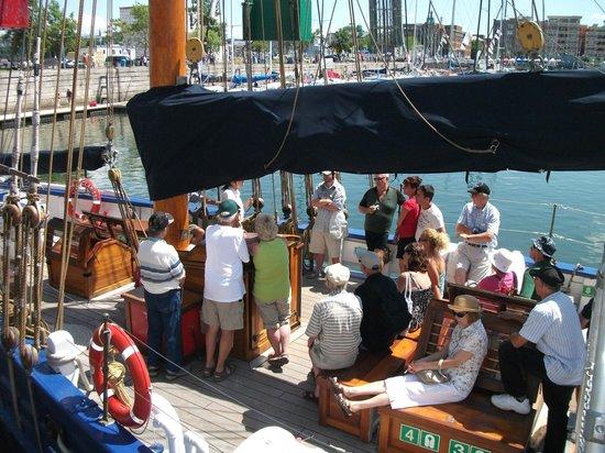 Old Port (Vieux-Port) : Le Marie-Clarisse à la marina de Québec