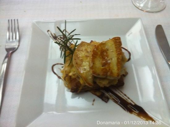 Donamaria'ko Benta: Foie con puerros en hojaldre