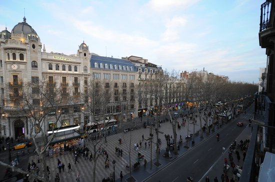 Hotel Medium Monegal: vista sulla ramblas