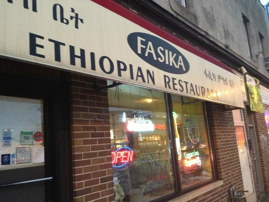Fasika Ethiopian Restaurant: Outside facing Snelling Av