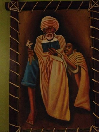 Fasika Ethiopian Restaurant: Inside art - love this picture