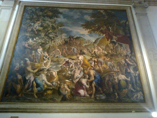 Chiesa di San Giorgio in Braida-Verona: Bellezze di Interni ''Lacaduta della Manna- Chiesa di S.Giorgio in Braida-Verona