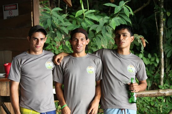 Osa Canopy Tour: Our guides!  (Jacob on the right and his cousins!  [I can't remember their name :( ])