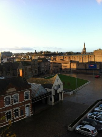 The Castle at Taunton: View from the room across the Castle Green.