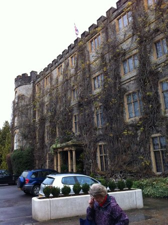 The Castle at Taunton: Front of hotel - note that in spring summer the wistaria covering the facade is in full bloom.