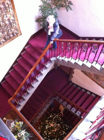 The Castle at Taunton: Main stair hall - yes there is an elevator, but we preferred taking the stair.