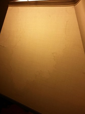 Park MGM Las Vegas: Water or something stain I saw when I awoke on the lampshade