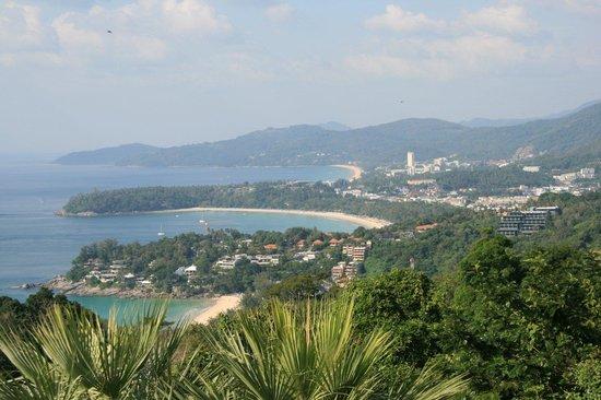 Kata Palm Resort & Spa: 3 beach viewpoint. Kata Noi nearest, Kata and then Karon