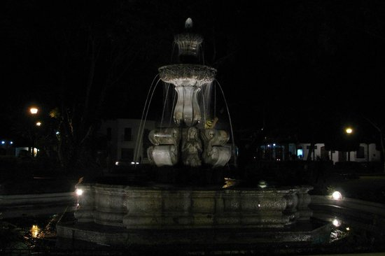 La Plaza (Parque Central): Evening View