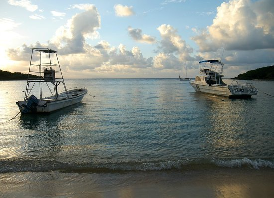Hotel Chillies: Native Son's dive boat on the left