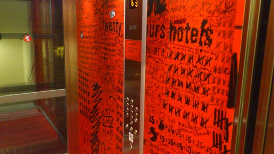 25hours Hotel beim MuseumsQuartier: the lift