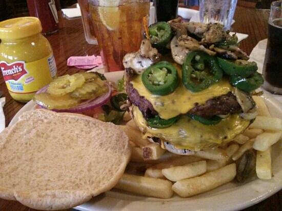 Padre Island Brewing Co.: beware! the Texas Burger. (amazing)