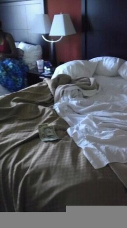 Comfort Suites: unclean room @ 3:19, at least I can keep my tip.