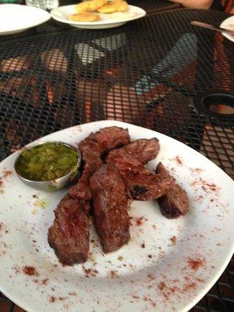 Moons Bar & Tapas: churrasco with chimichurri sauce