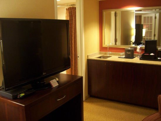 Washington Dulles Marriott Suites: living room TV