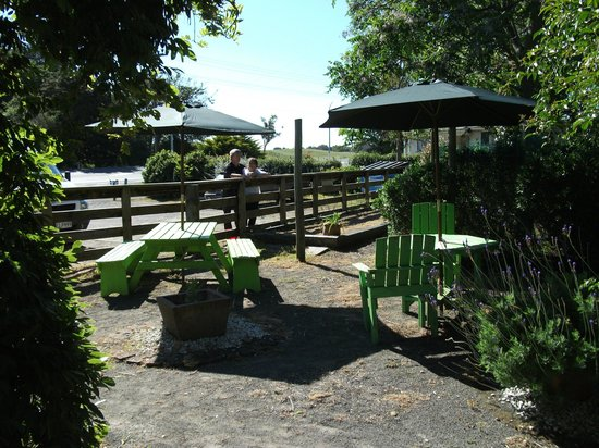 Pukekos Nest Cafe: Section of outdoors area