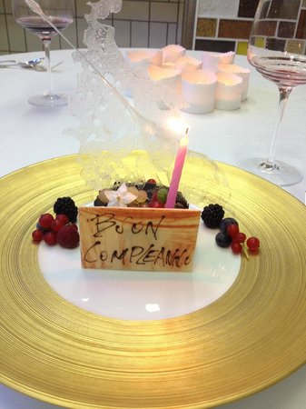 Terme Manzi Hotel & Spa: My birthday dessert